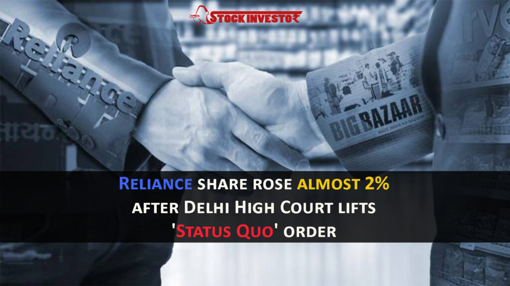 Reliance share rose almost 2% after Delhi High Court lifts 'Status Quo' order