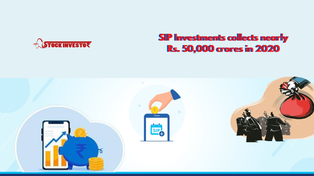 SIP Investments collects nearly Rs. 50,000 crores in 2020